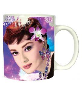 Audrey Hepburn - Tasse blanche