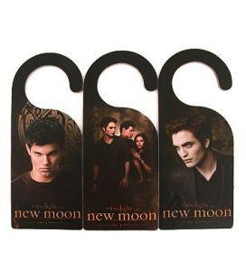 Twilight : New Moon - Set of 3 doorknob hangers