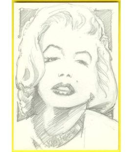 Marilyn Monroe - Carte spéciale - Sketch de Paul Shipper
