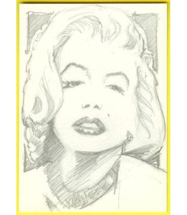 Marilyn Monroe - Carte spéciale - Sketch de Paul Shipper