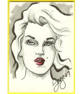 Marilyn Monroe - Trading Card - Sketch A by Connie Persampieri