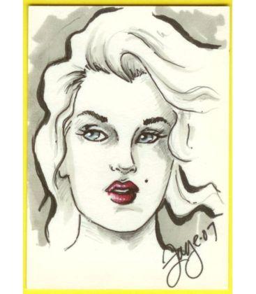 Marilyn Monroe - Carte spéciale - Sketch A de Connie Persampieri