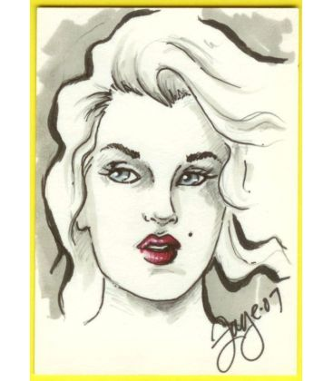 Marilyn Monroe - Chase Card - Sketch A by Connie Persampieri