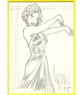 Marilyn Monroe - Trading Cards - Sketch by Paul Shipper
