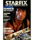 Starfix Magazine N°58 - March 1988 with Sylvester Stallone
