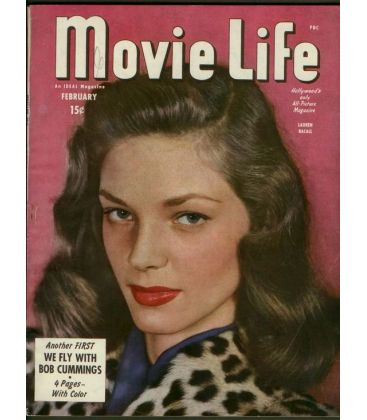 movie life f vrier 1946 magazine am ricain avec lauren bacall cin ma passion. Black Bedroom Furniture Sets. Home Design Ideas