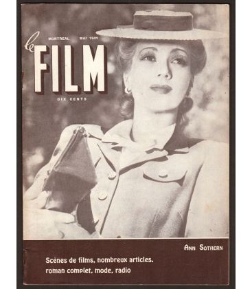 Le Film - May 1941 - Vintage French Canadian Magazine