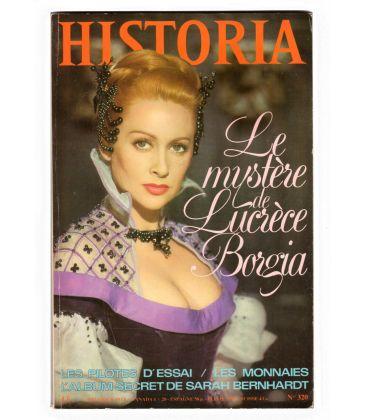 Lucrèce Borgia - Magazine Historia avec Martine Carol en couverture