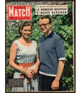 Paris Match Magazine N°484 - July 19, 1958 with Ingrid Bergman