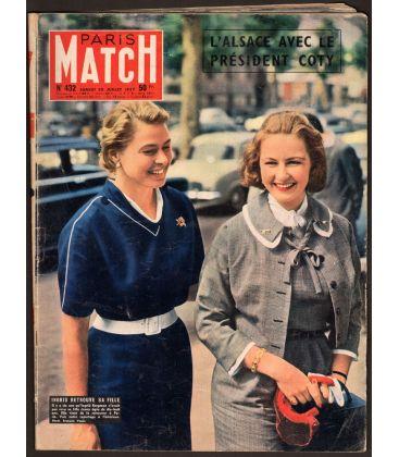 Paris Match N°432 - 20 juillet 1957 - Magazine français avec Ingrid Bergman
