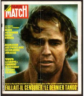 Paris Match N°1238 - 27 janvier 1973 - Magazine français avec Marlon Brando