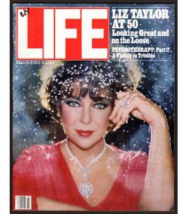 Life - Mars 1982 - Magazine américain avec Elizabeth Taylor