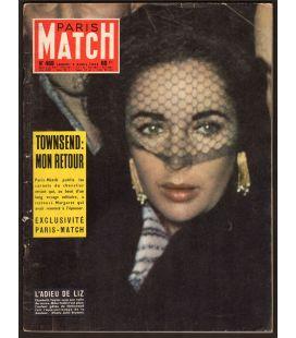 Paris Match N°469 - 5 avril 1958 - Magazine français avec Elizabeth Taylor
