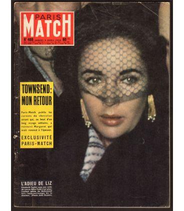 Paris Match Magazine N°469 - April 5, 1958 with Elizabeth Taylor