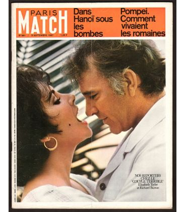 Paris Match Magazine N°961 - September 9, 1967 with Elizabeth Taylor
