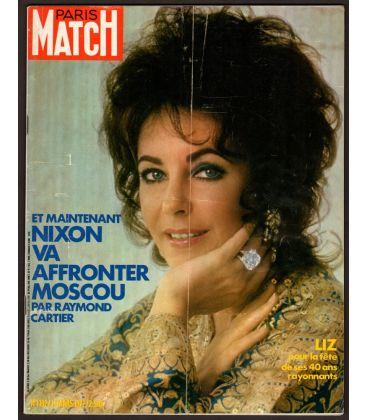 Paris Match Magazine N°1192 - March 11, 1972 with Elizabeth Taylor