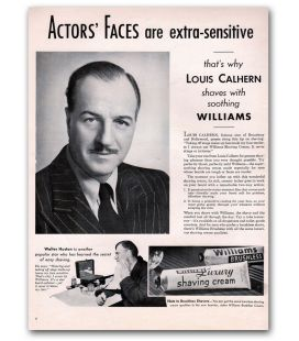 Louis Calhern - Vintage Original Advertisement