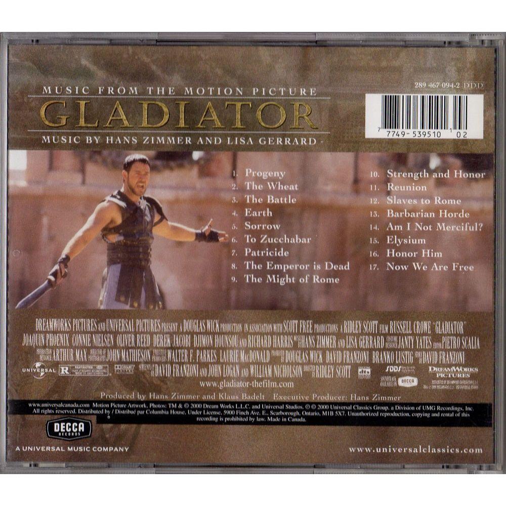 Gladiator - Soundtrack - CD - Cinéma Passion