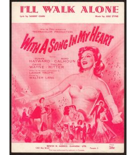 With A Song In My Heart - Vintage Sheet Music