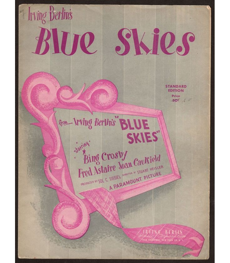 Blue Skies - Vintage Sheet Music
