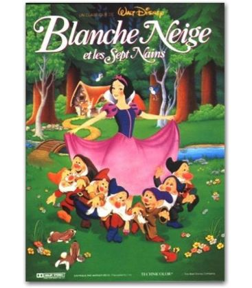 """Blanche Neige et les 7 nains - 47"""" x 63"""""""