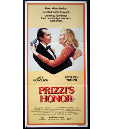 "Prizzi's Honor - 13"" x 30"" - Original Australian Poster"