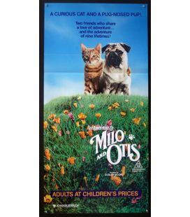 "The Adventures of Milo and Otis - 13"" x 30"" - Original Australian Poster"