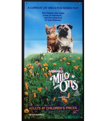 "The Adventures of Milo and Otis - 13"" x 30"" - Original Australian Poster"