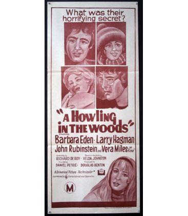 """Les Hurlements de la forêt - 13"""" x 30"""" - Affiche originale australienne"""
