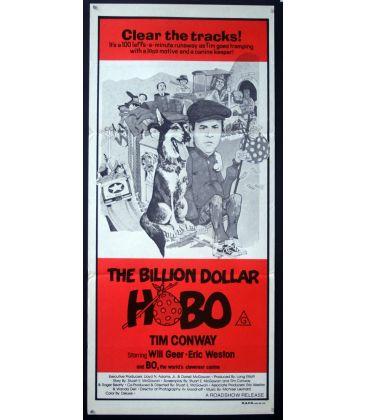 "The Billion Dollar Hobo - 13"" x 30"" - Original Australian Poster"