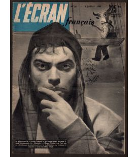 L'Ecran Français Magazine N°261 - Vintage issue July 3, 1950 with Orson Welles