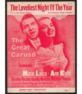 The Great Caruso - Vintage Sheet Music
