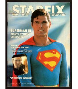Starfix N°6 - Juillet 1983 - Ancien magazine français avec Superman 3