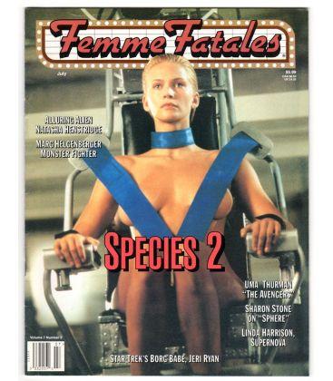 Femme Fatales Magazine - July 1998 - US Magazine with Natasha Henstridge