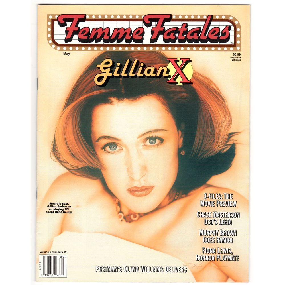 femme fatales magazine may 1998 us magazine with gillian anderson cin ma passion. Black Bedroom Furniture Sets. Home Design Ideas