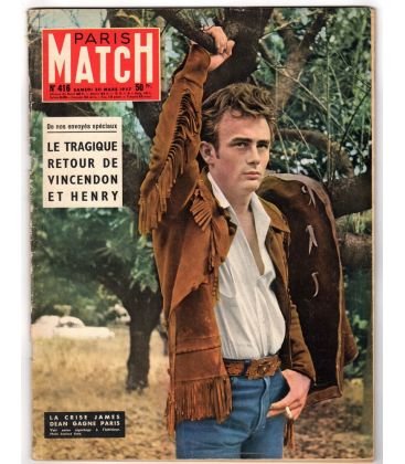 Paris Match N°416 - 30 mars 1957 - Magazine français avec James Dean