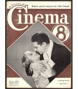 Le Courrier du Cinema magazine - August 1937 with Jacqueline Francel