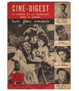 Ciné-Digest N°13 - Mai 1950 - Magazine français avec Gary Cooper et Paulette Goddard