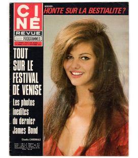 Ciné Revue N°36 - 9 septembre 1971 - Magazine français avec Claudia Cardinale