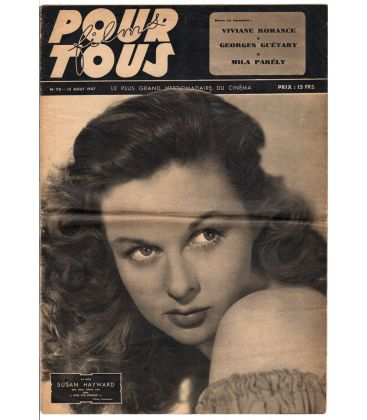 Films pour tous newspaper N°70 - August 12, 1947 with Susan Hayward
