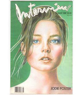 Interview Magazine - August 1987 with Jodie Foster