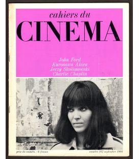 Cahiers du cinema Magazine N°182 - September 1966 with Anna Karina