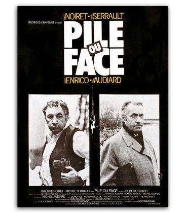 "Pile ou face - 47"" x 63"" - Vintage Original French Poster"