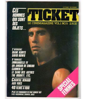 Ticket Magazine - October 1983 with John Travolta