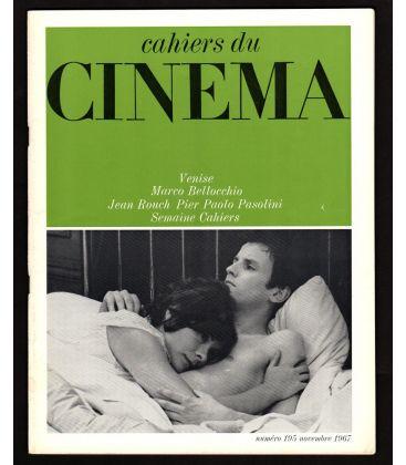 Cahiers du cinéma N°195 - Novembre 1967 - Magazine français avec Jacques Perrin