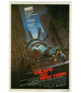 New York 1997 - Carte postale avec l'affiche américaine