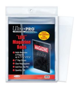 Sacs en plastique pour magazine Life - Paquet de 100 - Ultra-Pro