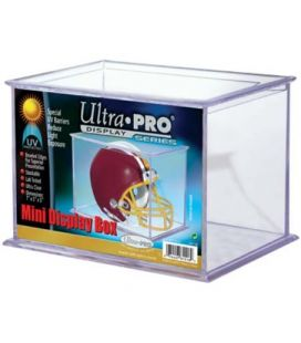 Mini Helmet and Figurines UV Display Case