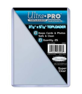 "Toploader 3.5"" x 5"" - Ultra Pro - Pack of 25"