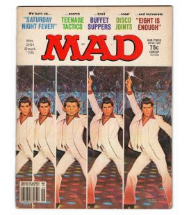 Mad Magazine N°201 - September 1978 with John Travolta